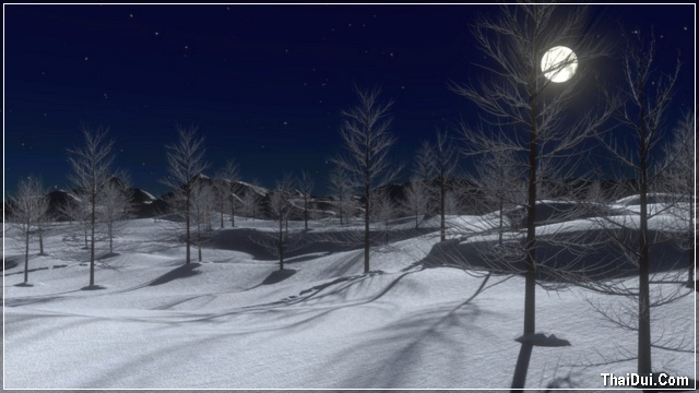 ảnh đêm trăng tròn mùa đông
