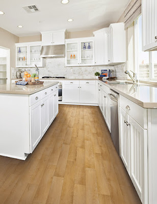 You can have the beautiful look of wood flooring in your kitchen!