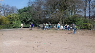 Petanque action at Alexandra Park in Edgeley