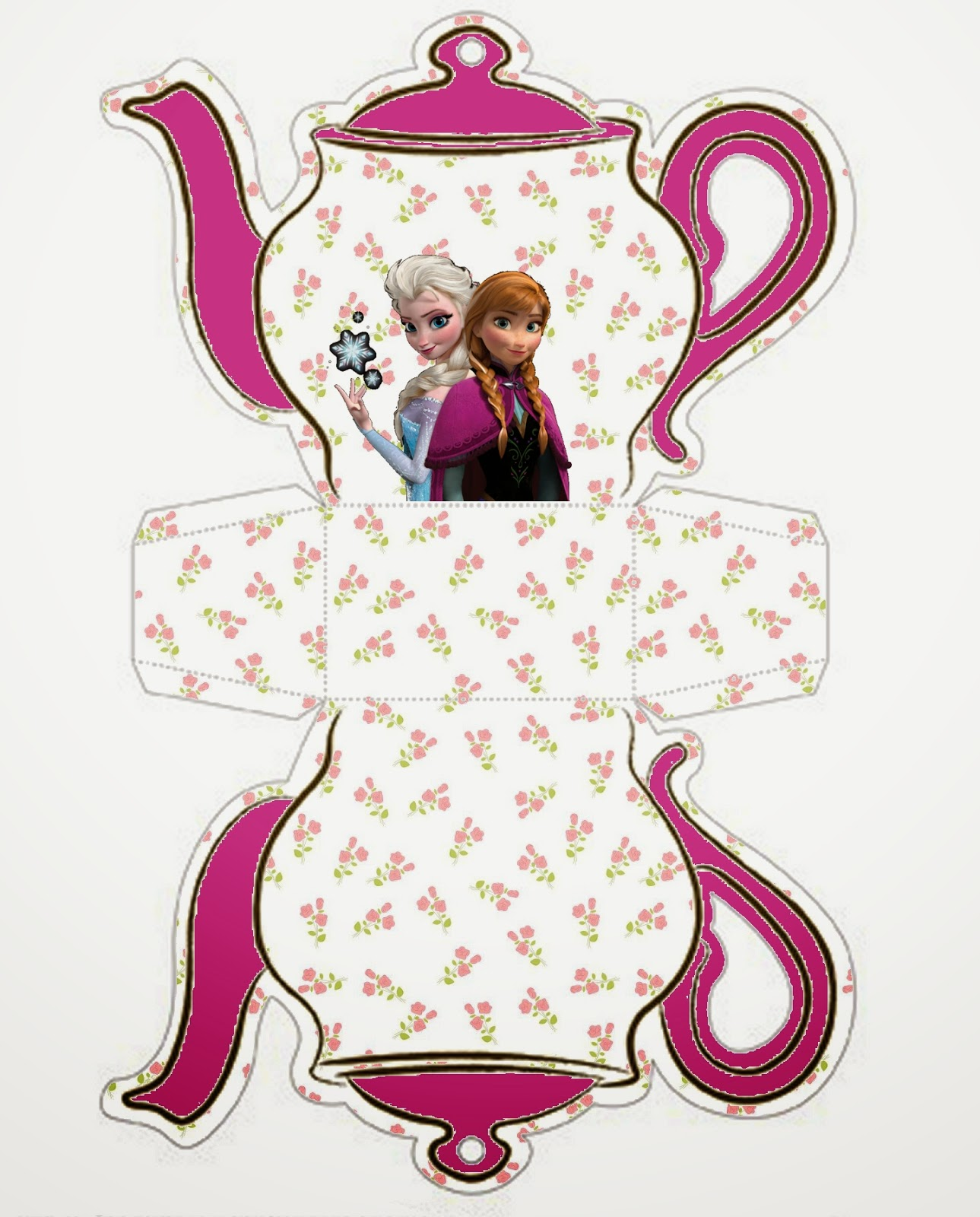 Frozen: Teapot Free Printable Box.