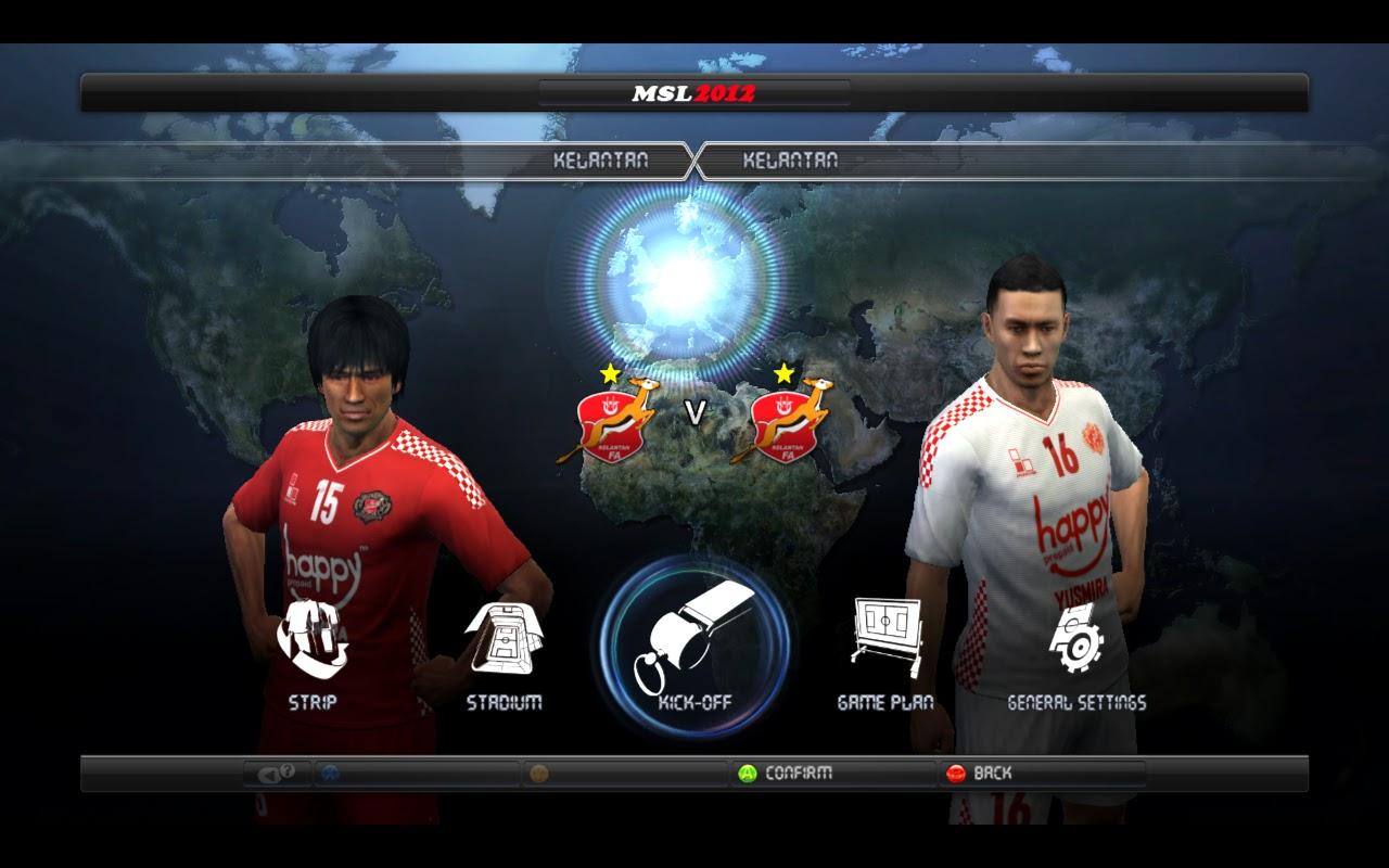 Pes Malaysia Game Mode: Kelantan 12-13 kit ( Pes12 )