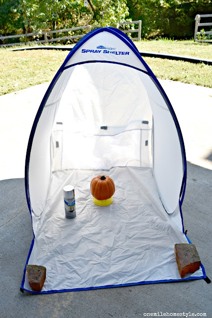 Use a Home Right Small Spray Shelter to complete small spray paint projects, even on days when the weather isn't perfect!!