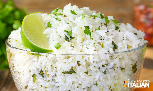 Chipotle Rice Recipe in a glass bowl