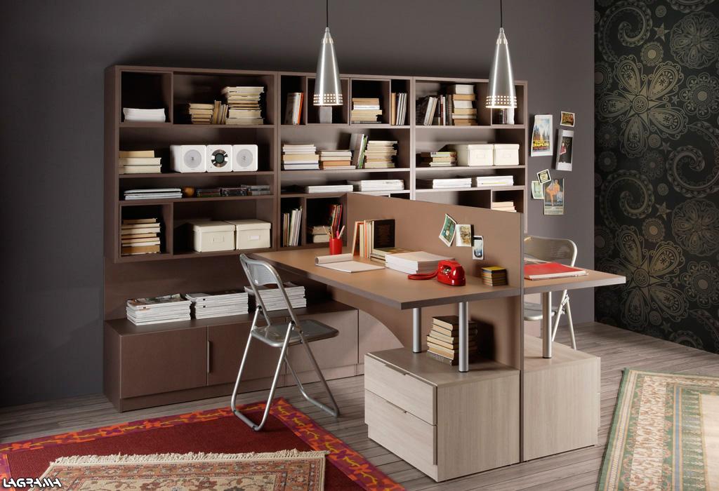 Dormitorios juveniles en colores arena - Mesas estudio juveniles ...