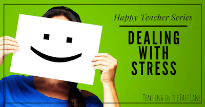 Teaching is stressful, but it doesn't have to be as bad as we make it. Try these 4 proven tips to be on your way to happier teaching!