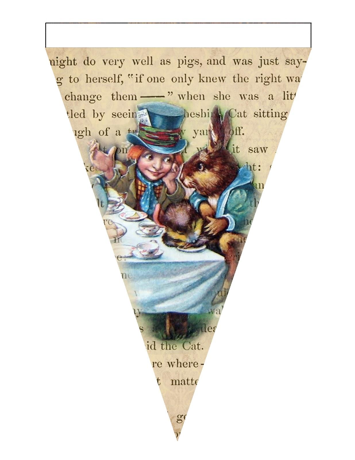 One Blank Dream Alice In Wonderland Grunge Printable