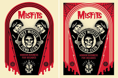 """Obey Giant x Misfits """"Horror Business Tomb"""" & """"Horror Business Crypt"""" Screen Prints by Shepard Fairey"""