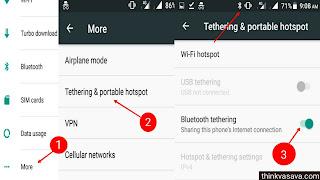 Bluetooth se dusre phone me Internet kaise chalaye