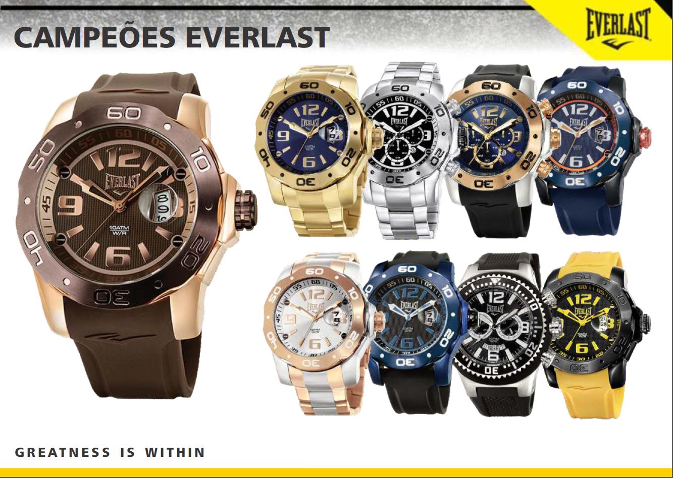 58f0d93f365 A EVERLAST trouxe para o mercado relojoeiro esses qualidade e inovação e  hoje os relógios EVERLAST estão inseridos em mais de 180 pontos de venda  por todo o ...