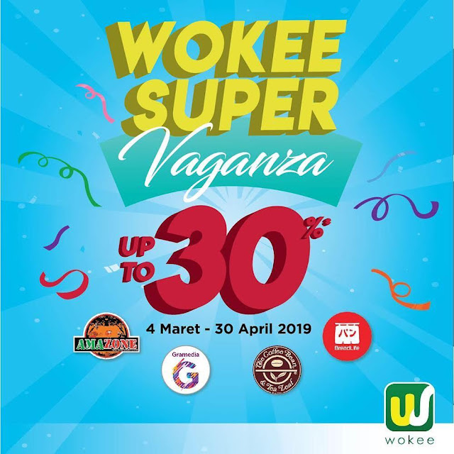 #Wokee - #Promo Wokee Super Caganza Diskon Hingga 30% (s.d 30 April 2019)