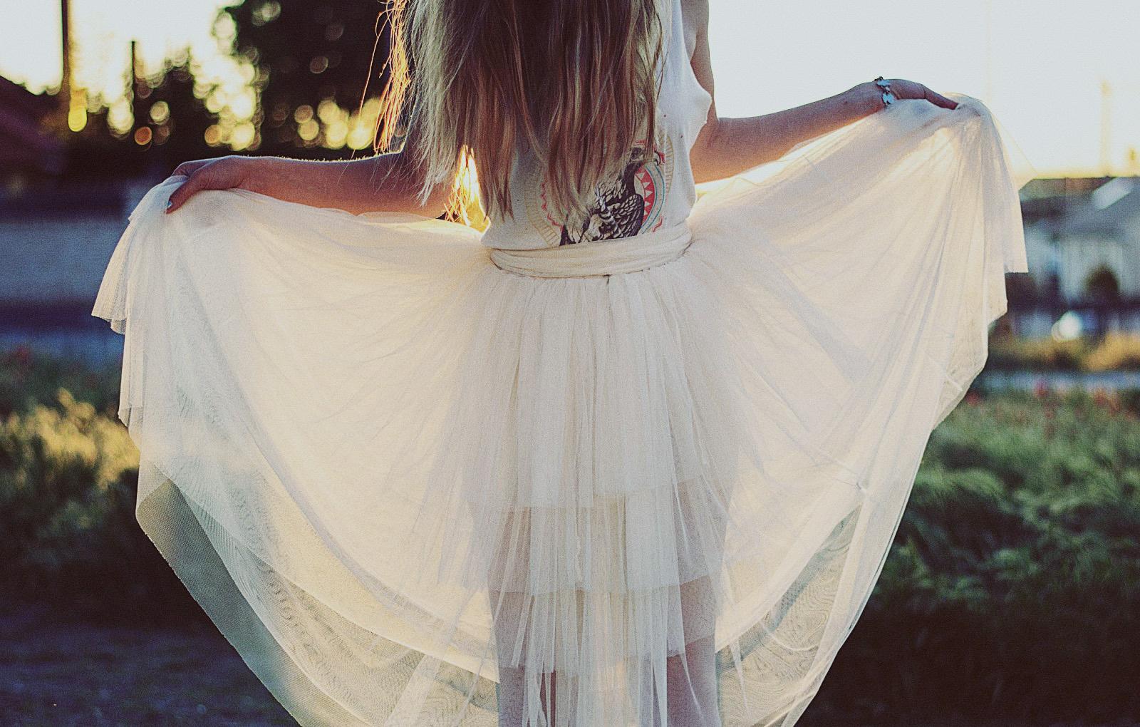 falda de tul capas