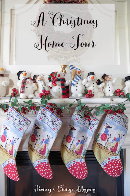 German Christmas decorations with French Country Farmhouse Style!