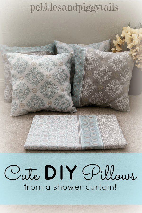 DIY Pillows From A Shower Curtain