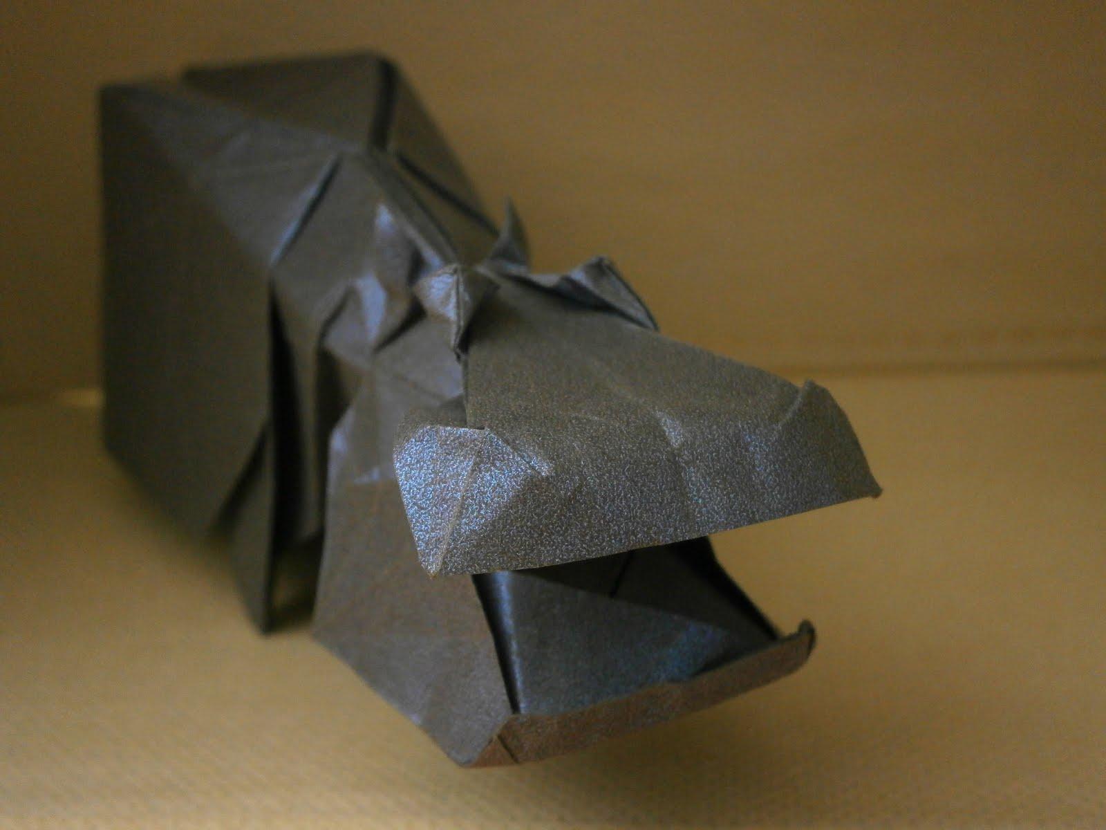 Hideo Komatsu Origami Giraffe Diagram