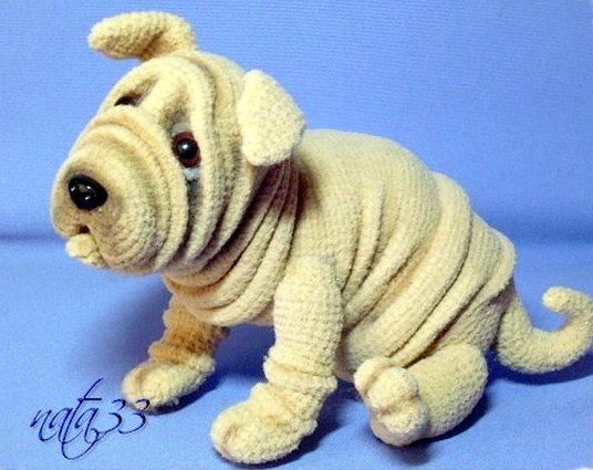 shar pei amigurumi dog crochet pattern