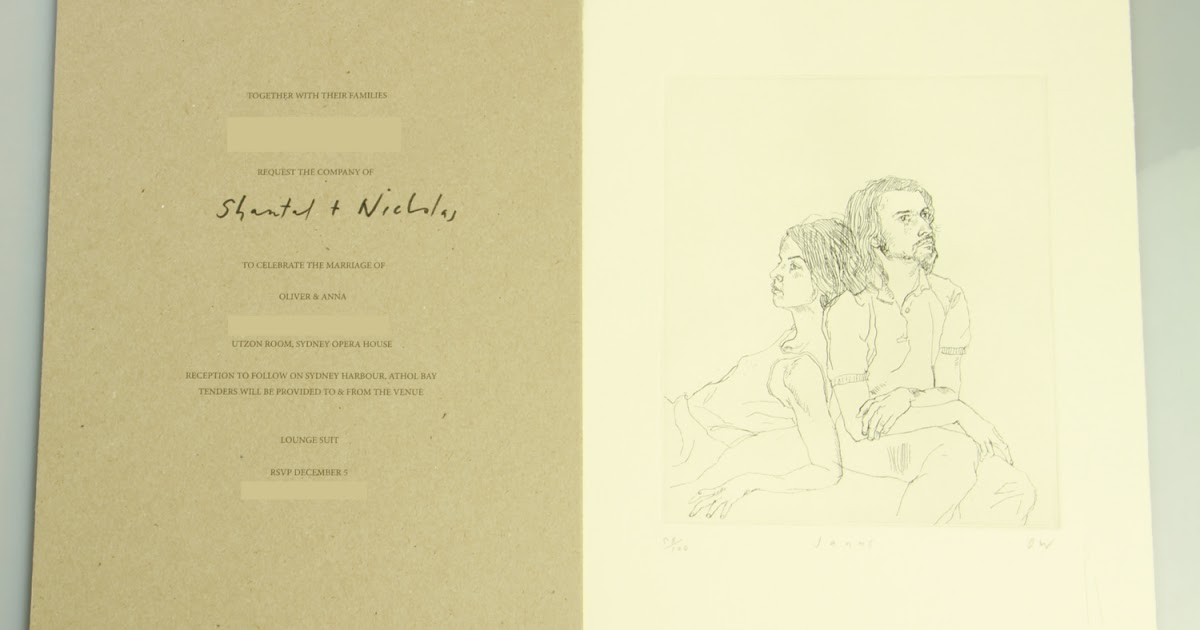 Wedding Invitations Sydney: For Lovers Of Bow Ties: The