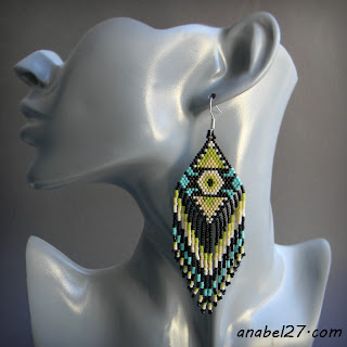 seed bead earrins beadwork jewelry