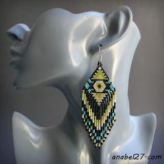 seed bead earrins beadwork jewelry