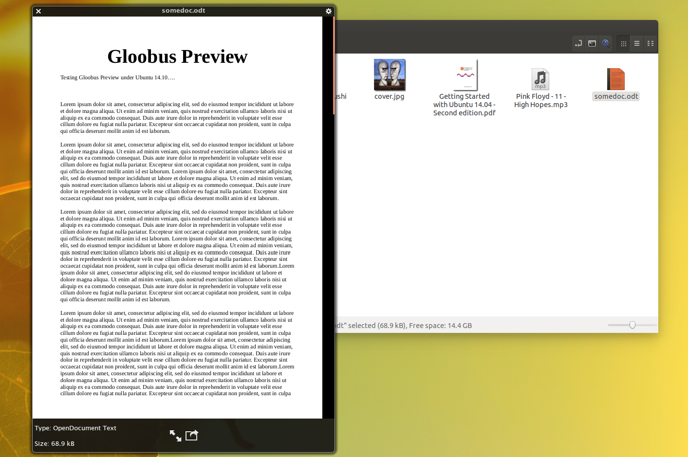 Quick File Previewer `Gloobus Preview` Updated To Work With