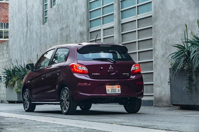 Rear 3/4 view of 2017 Mitsubishi Mirage GT