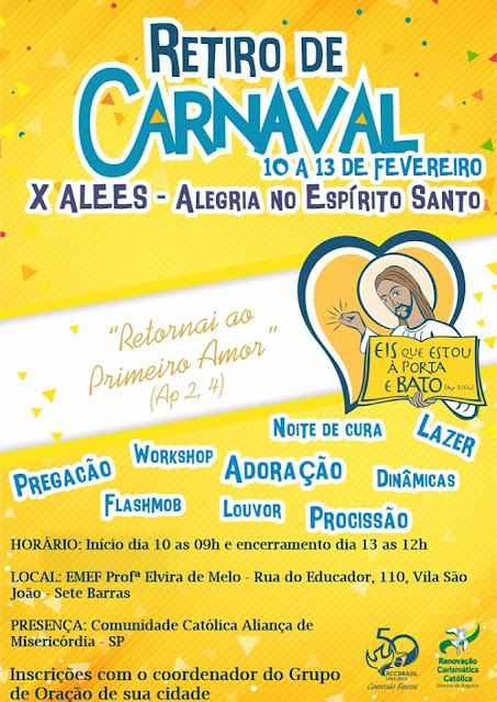 Retiro de Carnaval da Renovação Carismática Católica - Diocese de Registro-SP