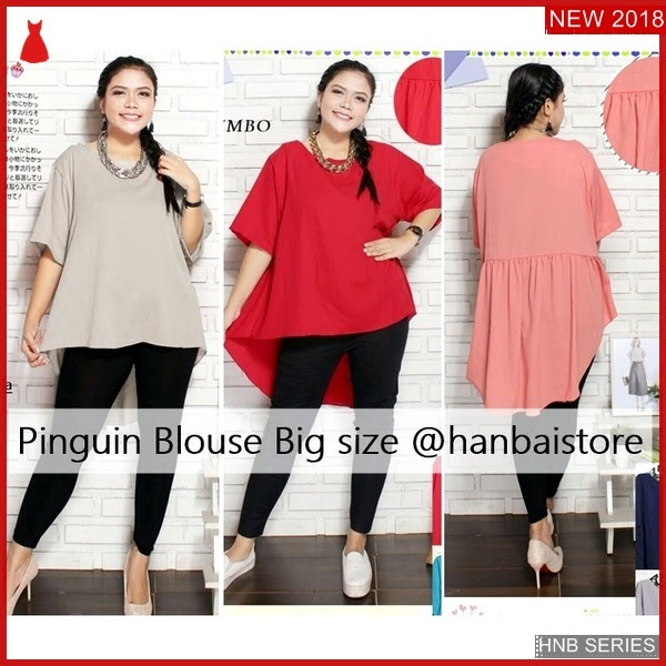 HNB027 Model Blouse Big Size Atasan Ukuran Besar BMG Shop