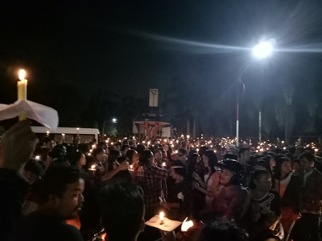 GEGER - Aksi 1000 Lilin Tanda Cinta Untuk AHOK di Kota Pematangsiantar