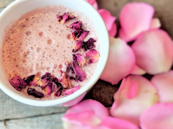 Vanilla Rose Moon Milk #milk #drink