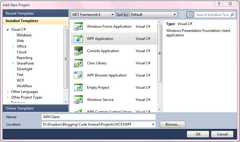WCF Service Returns List of Objects to WPF DataGrid - Code