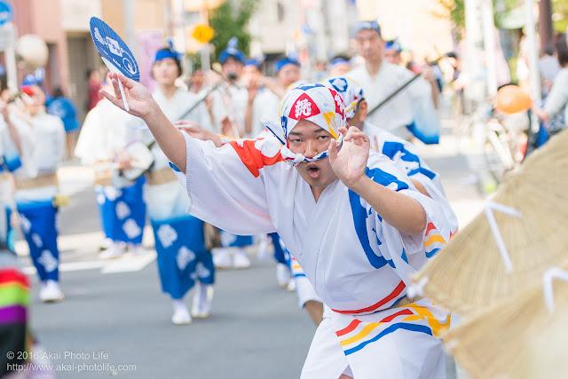 飛鳥連、マロニエ祭り、男踊りの写真 その4