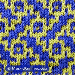 Basketweave mosaic knitting. An eye-catching stitch pattern!