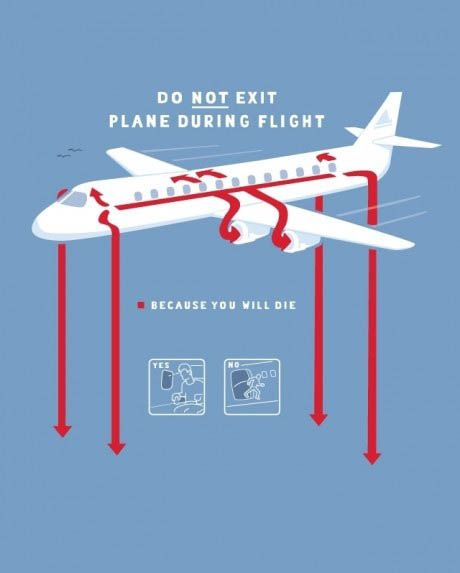 funny picture image aeroplane do not exit