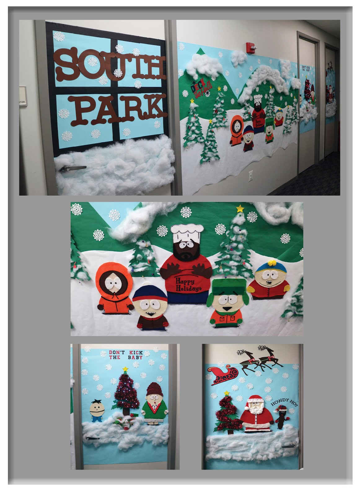 South Park Christmas.Lost In Luray South Park Christmas Door