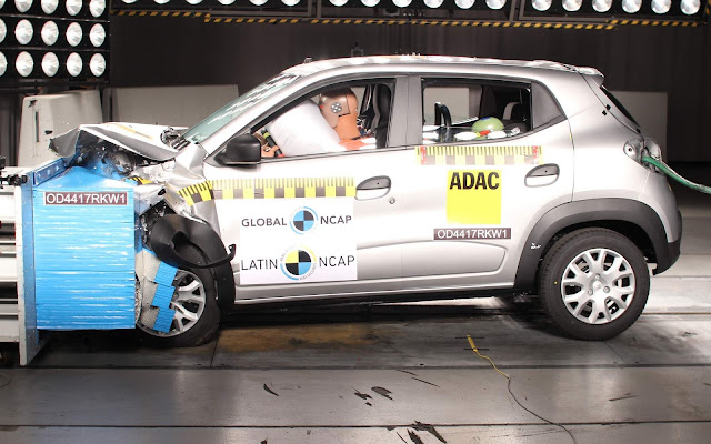Renault Kwid 2018 brasileiro ganha 3 estrelas - Latin NCAP