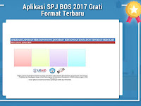 Aplikasi SPJ BOS 2017 Gratis Format Terbaru