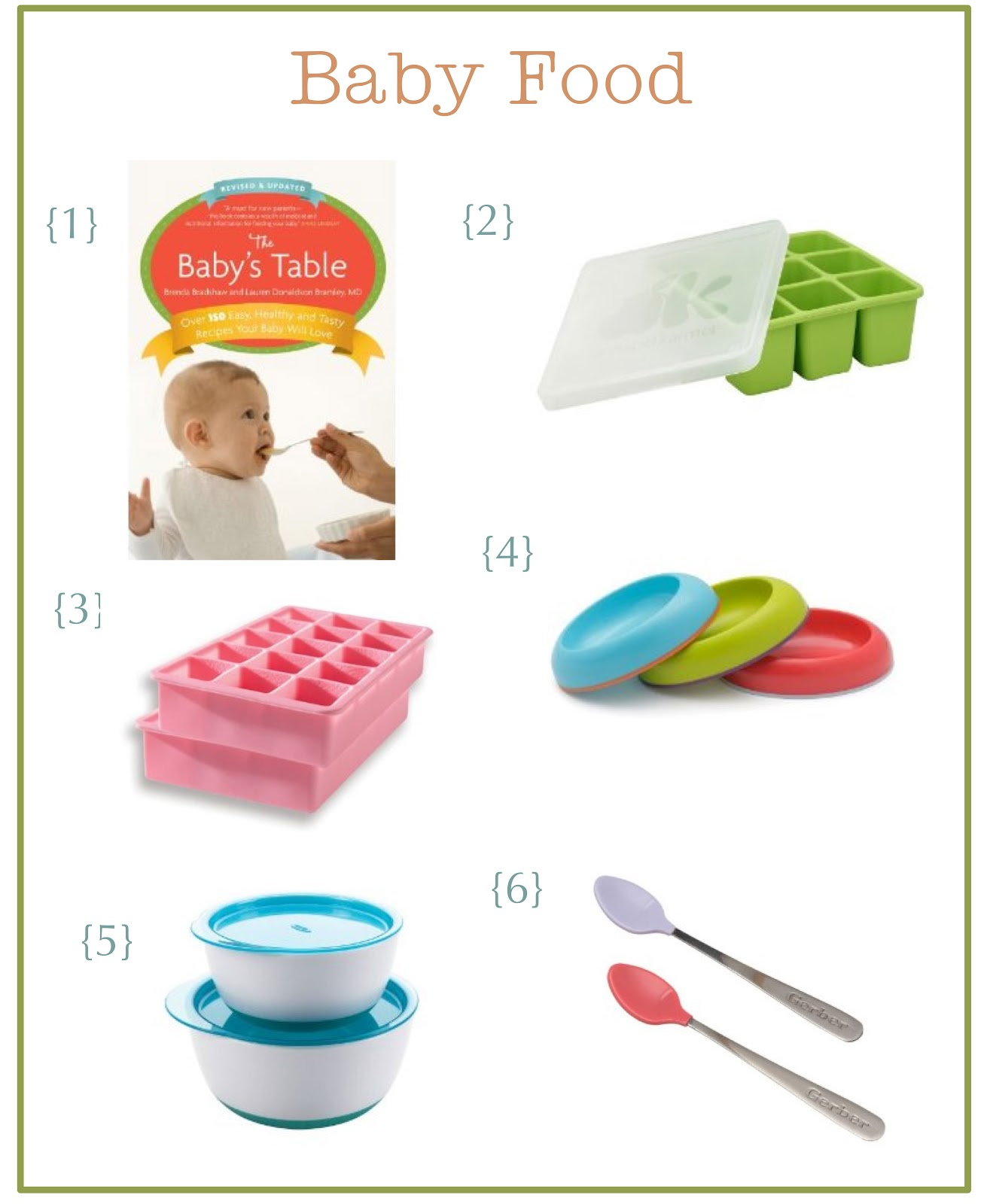 the little green chair: baby food