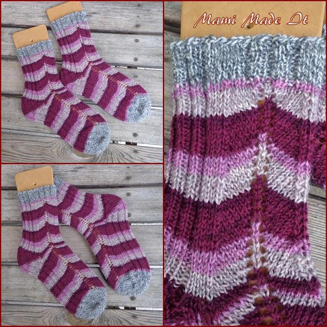 Socken selbstgestrickt von Mami Made It - Handmade Socks by Mami Made It