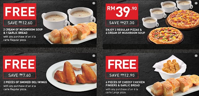 Pizza Hut Coupon Free Cream of Mushroom Soup Garlic Bread Smoked Deli Wings