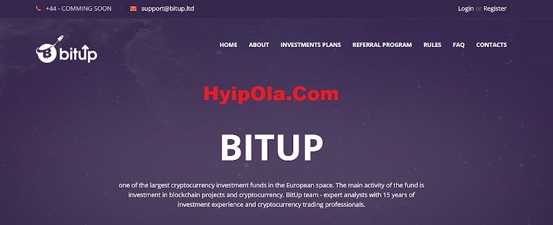 [SCAM] Review BitUp.LTD - Site chiến nhanh lý tưởng, lãi từ 8% hằng ngày