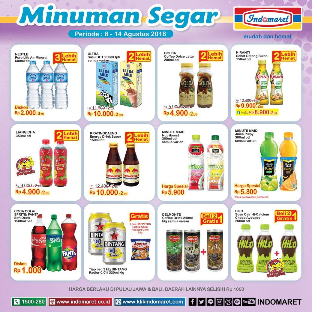 Indomaret - Katalog Promo Minumal Segar Periode 08 - 14 Agustus 2018