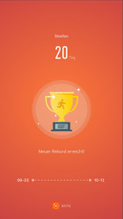MyVlog - Neuer MiBand2 Rekord