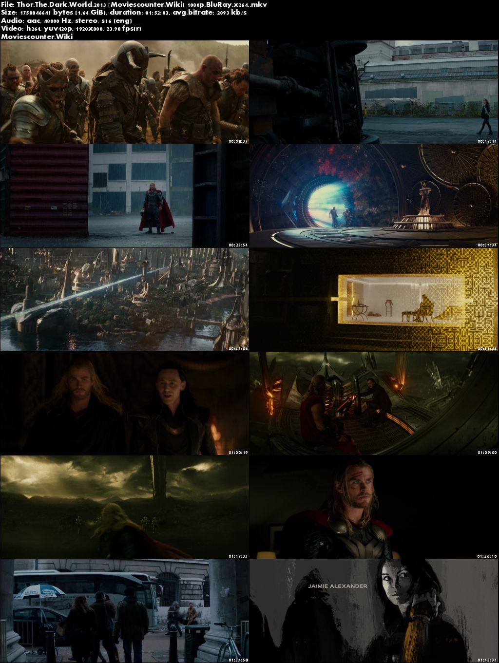 Screen Shots Thor: The Dark World 2013 English HD 1080p