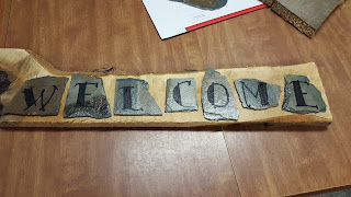 welcome sign, repurposed, vintage, home decor, shabby chic, rustic