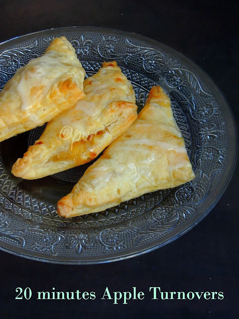 20 minutes Apple turnovers, Apple turnover