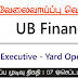 Vacancy In UB Finance
