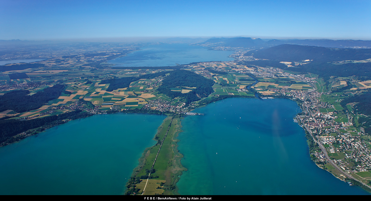 febe aerial view of swiss seeland