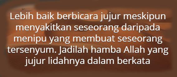 Kata Mutiara Jujur Dalam Islam Quotemutiara
