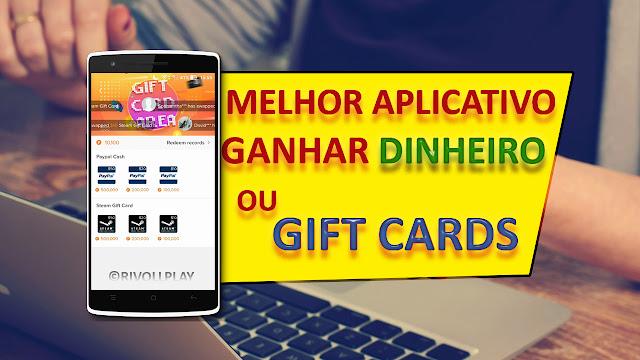 MELHOR APLICATIVO PARA GANHAR DINHEIRO E GIFT CARDS - PAYPAL