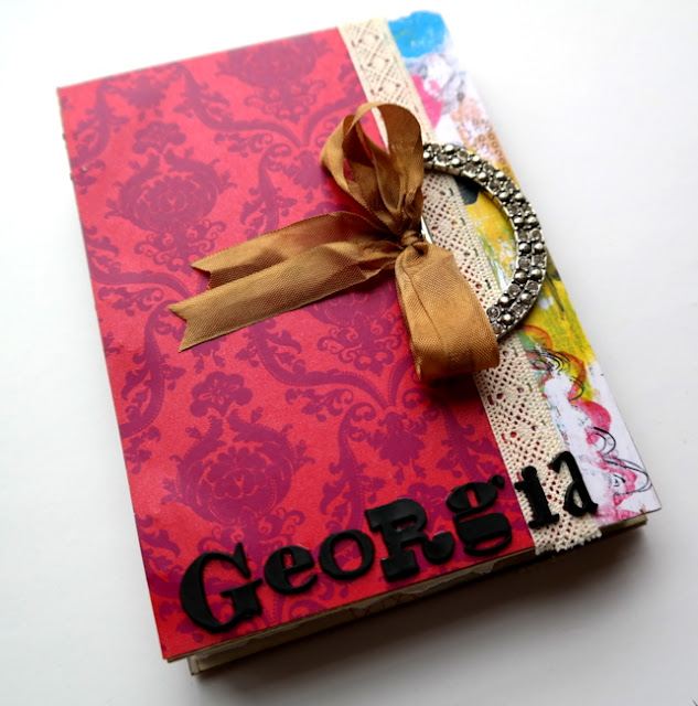 Handmade Georgia Baby Girl Art Journal by Dana Tatar
