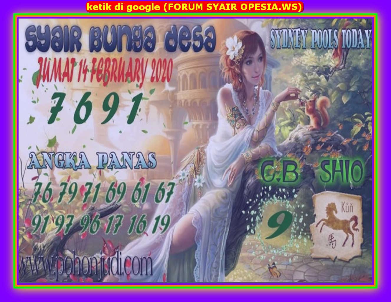 Kode syair Sydney Jumat 14 Februari 2020 98